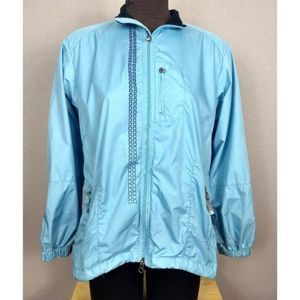 Nike blue zip up jacket size L
